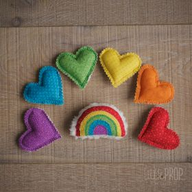 Rainbow mini heart