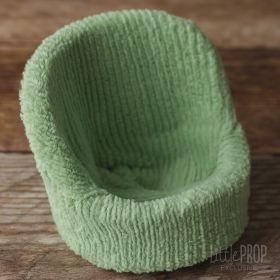 Chenille striped light green