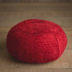 Little Puff Chenille Red Newborn Photography Prop