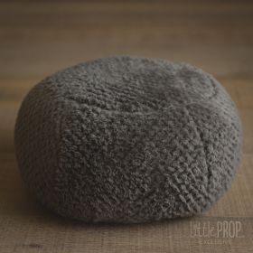Little Puff Plushy Gray Newborn Photography Prop