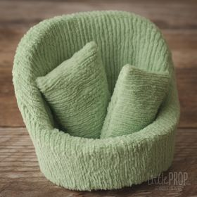 Grand Pod Chenille Green Striped