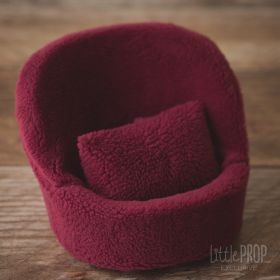 Mini Pod Sherpa Raspberry Newborn Photography Prop