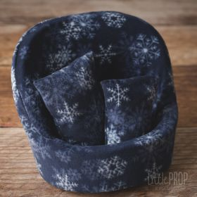 Grand Pod Winter Crystal Navy Newborn Photography Prop