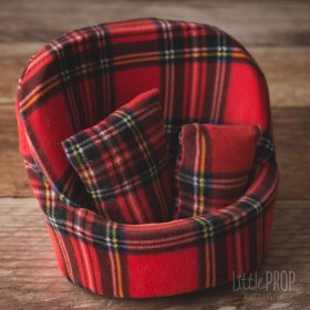 Grand Pod Red Plaid Newborn Photography Prop