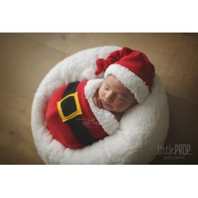 Little Puff Wonder Wrap Santa Newborn Photography Prop