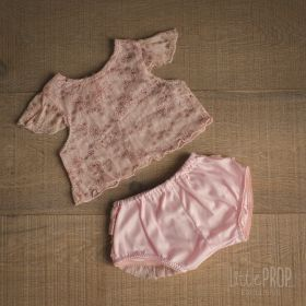 Top & Bloomer Baby Pink Photography Prop