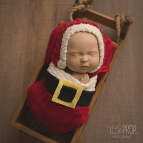 Santa Wonder Wrap Newborn Photography Prop