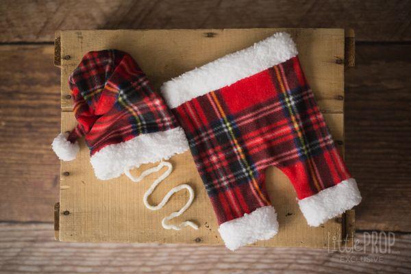 Santa Hat & Pants Outfit