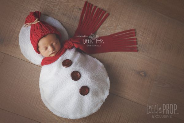 Little Snowman Newborn Photography Prop