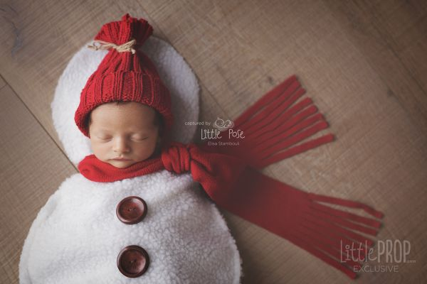 Little Snowman Nebworn Photography Prop
