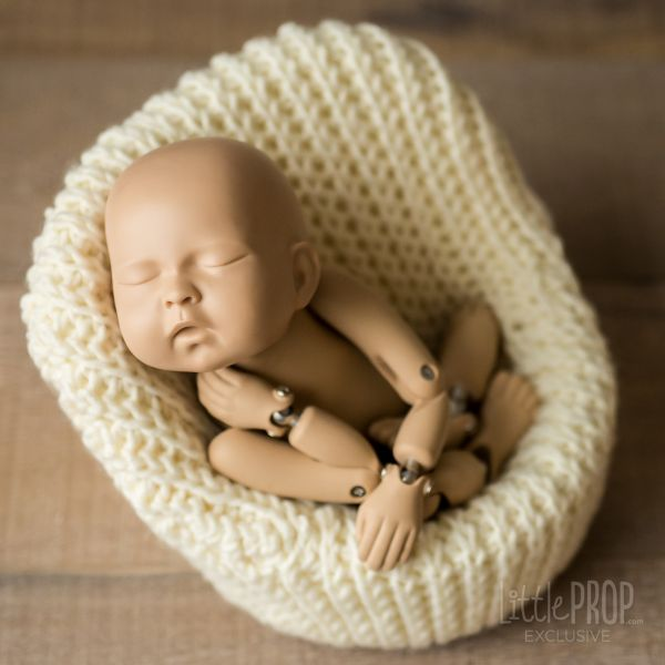 Ivory Hand Knitted Cover newborn photography prop