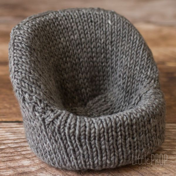 Dark Gray Hand Knitted Cover newborn Photography prop