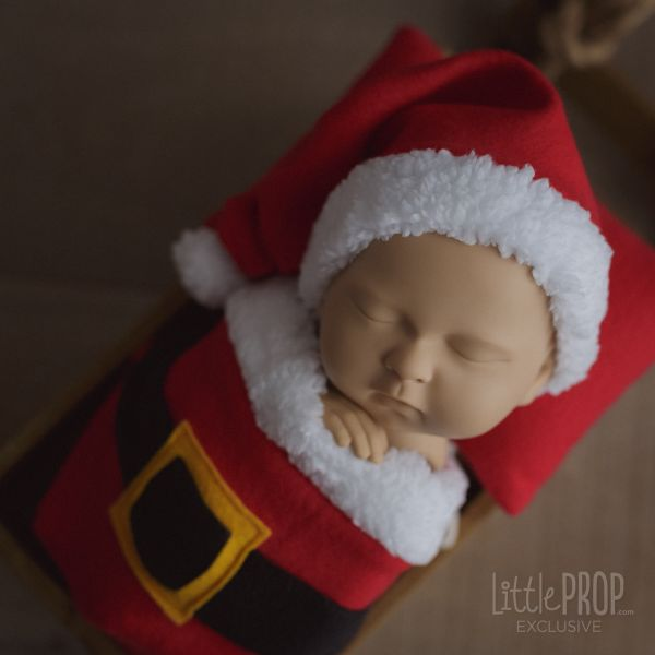 Santa Hat Newborn Photography Prop