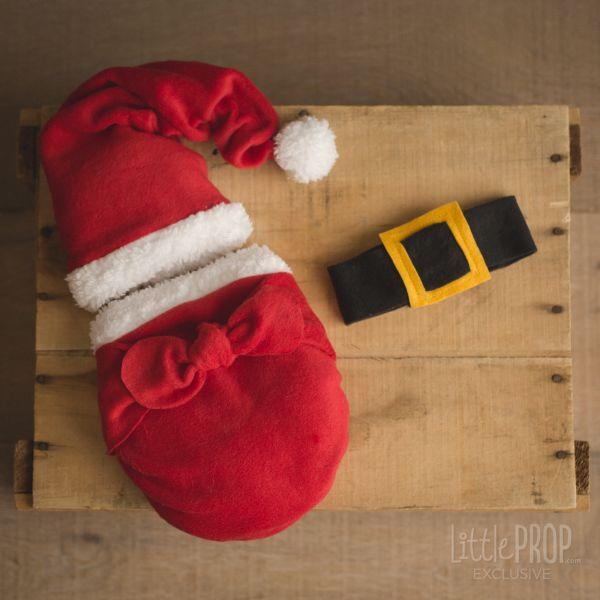 Cozy Santa Wonder Wrap Newborn Photography Prop