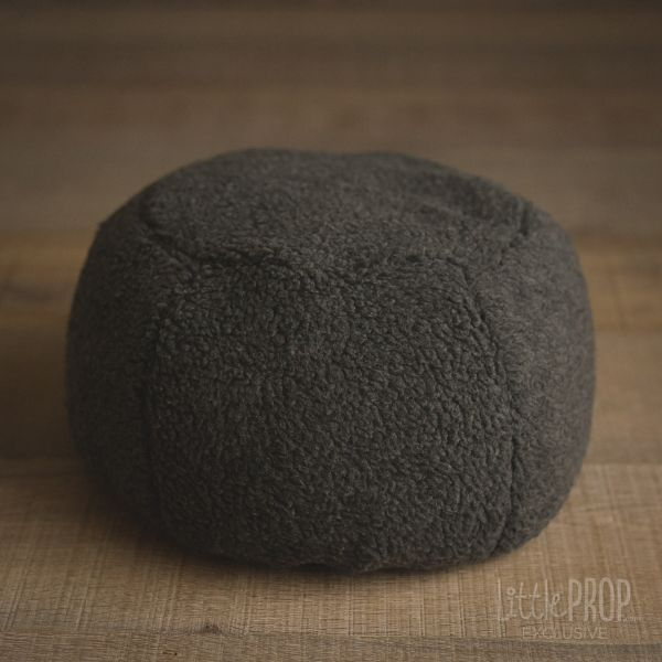 Little Puff Sherpa Charcoal Newborn Photography Prop
