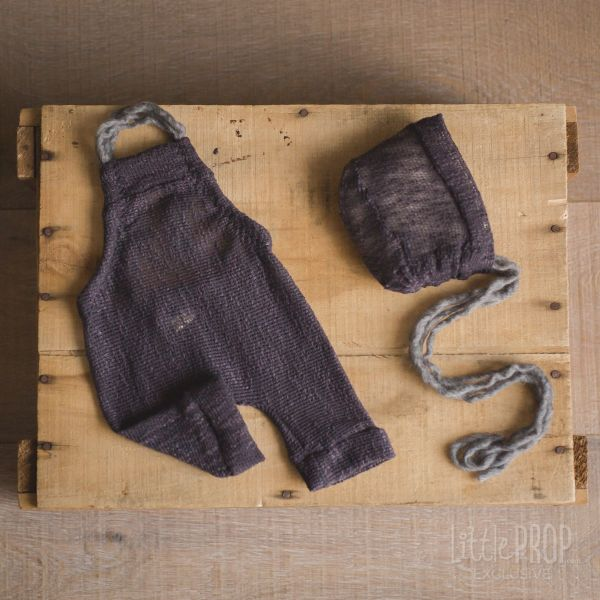 Knitted Charcoal Newborn Photography Prop