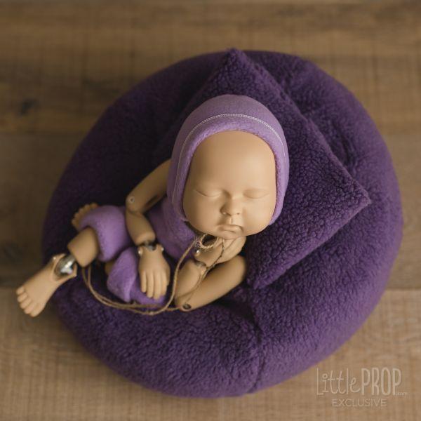 Little Puff Sherpa Purple & Outfit