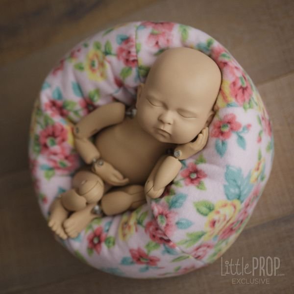 Country Pink Flowers Newborn Photography Prop
