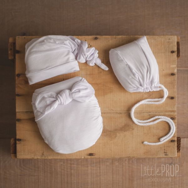 White Textured Wonder Wrap Newborn Photography Prop