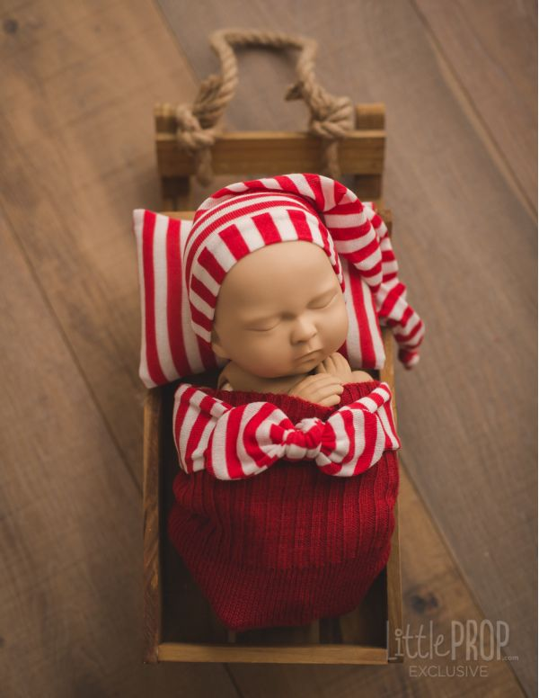 Candy Cane Newborn Photography prop