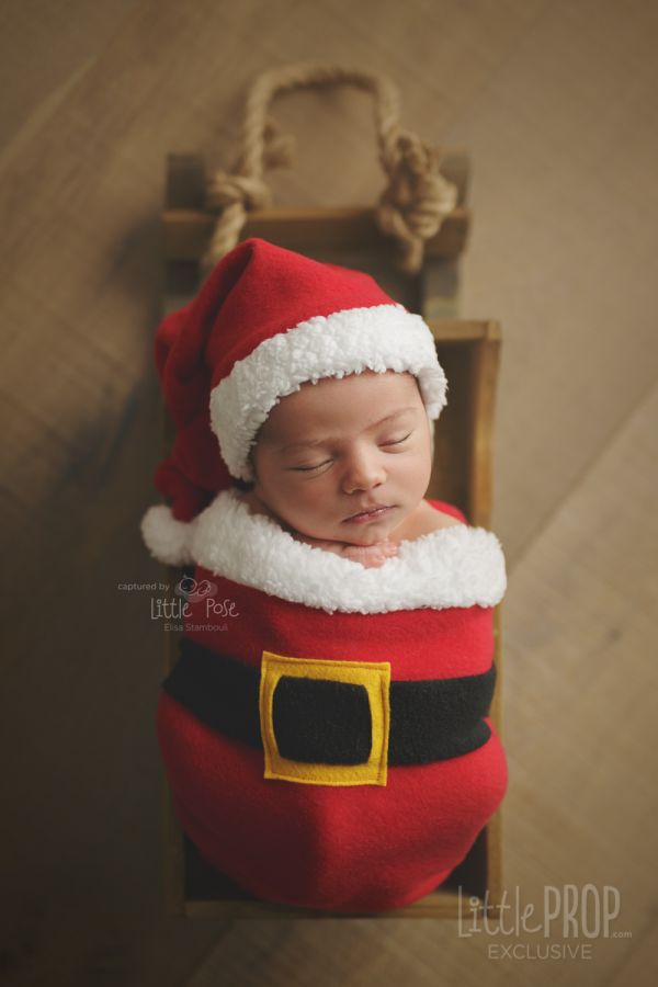 Santa Hat Newborn Photography Prop